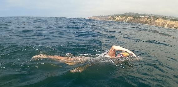 Abby Bergman '18 Swims Santa Monica Bay