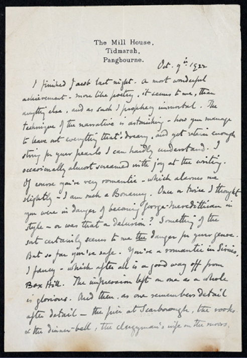virginia woolf s technique of writing the