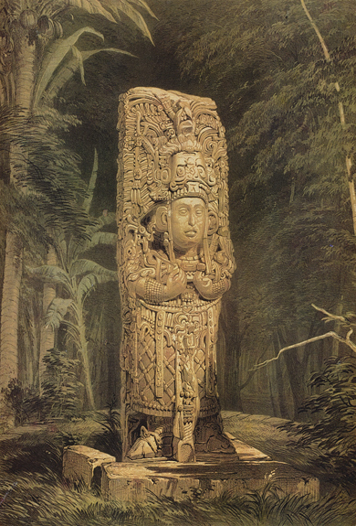 Plate 1, Idol at Copán