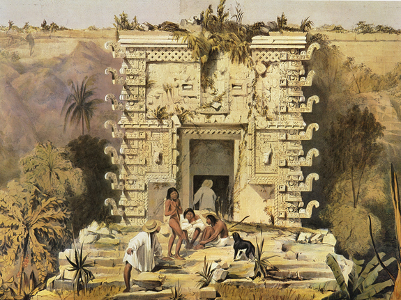 Plate 11, Gateway of the Great Teocallis, Uxmal