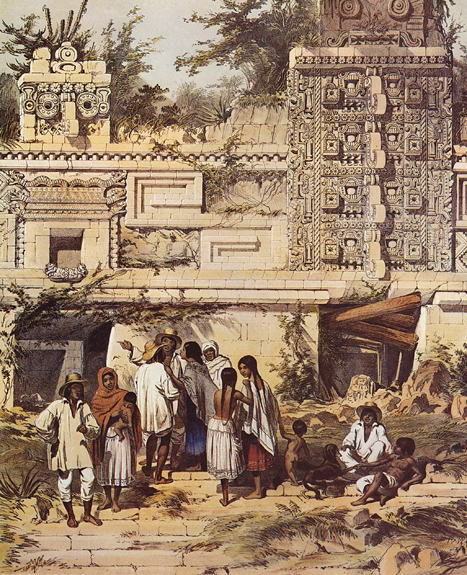 Plate 15, Portion of La Casa de Las Monjas, Uxmal