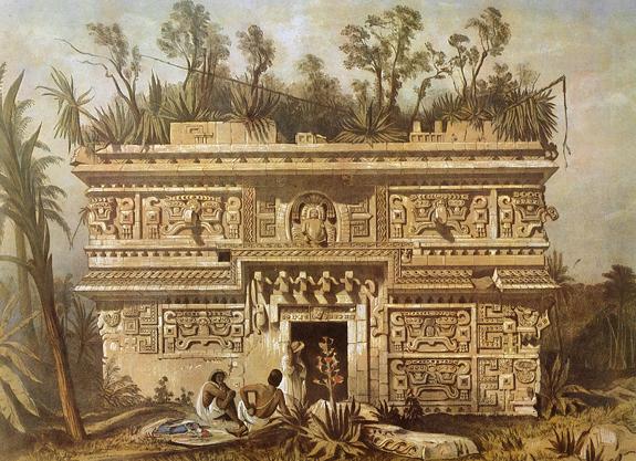 Chichen Itza Mexico Drawing Las Monjas Chichén-itzá