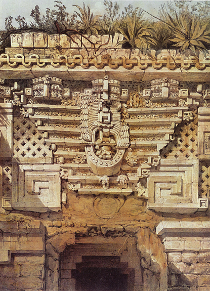 Plate 9, Ornament over the Principal Doorway, Casa del Gobernador, Uxmal