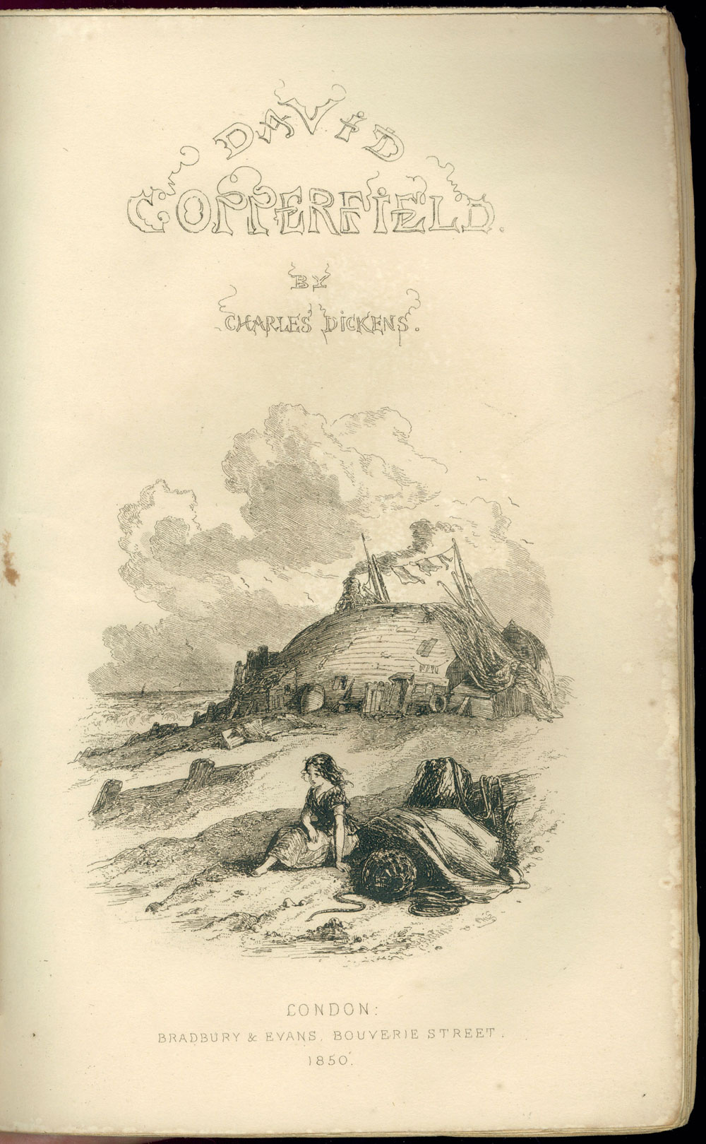 online exhibition charles dickens at college libraries david copperfield title page