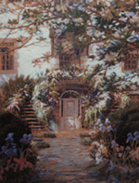 Astor Doorway painted by  Annette Hoyt Flanders, n.d.