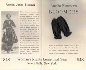 """Souvenir of Seneca Falls, N.Y., Birthplace of Women's Rights, 1848-1948,"" ca. 1948"