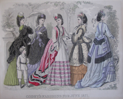 """Godey's Fashions for June 1871"" from A Century of Fashion by Ella Matson Andrews"