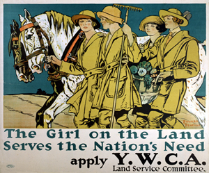 YWCA Land Service Poster, 1918
