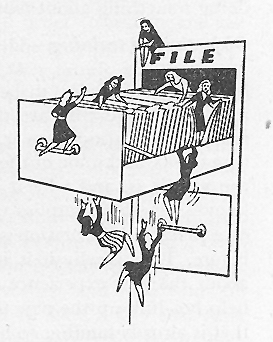 "From training manual ""How to Steer the Volunteer,"" 1944"