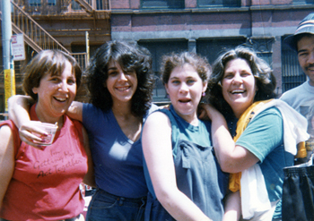 Ruth Berman and Connie Kurtz with their daughters, n.d.