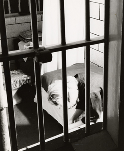 Prisoner in cell at Women's House of Detention,            New York,  May 2, 1956. Photograph by Jacona