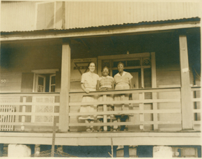 Liberia YWCA staff members: Ruth Hill, Nancy Martins, and Bea Blanche, Monrovia, 1952
