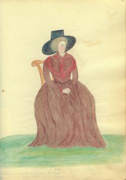 Mary Ann Woodrow Archbald, self portrait, n.d.