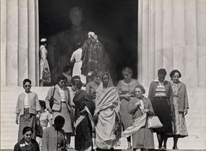Group of women at the Lincoln Memorial, n.d. Photograph by Alfred Wertheimer