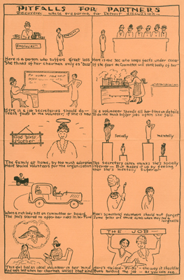 Cartoon for YWCA training, 1930 National Convention