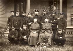 """Sarah Tinsley Rees and her """"Tuesday Bible Class,""""Kanazawa, Japan, 1914"""