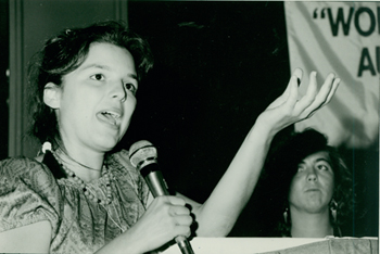 Speaker at Student YWCA, unidentifed, undated