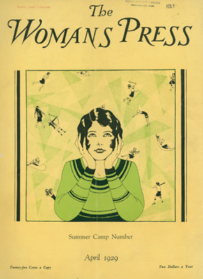 "Cover of April 1919 issue of ""The  Womans Press"""