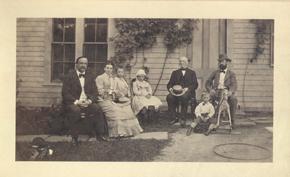 Garrison family gathering, 1876