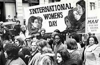 International Women's Day Demonstration, photo by Cary Herz, n.d.