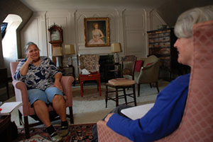 Joyce Follet interviewing Katsi Cook for theVoices of Feminism Oral History Project, 2010