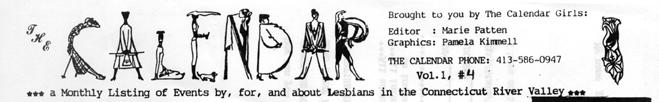 The Calendar's masthead, August 1987