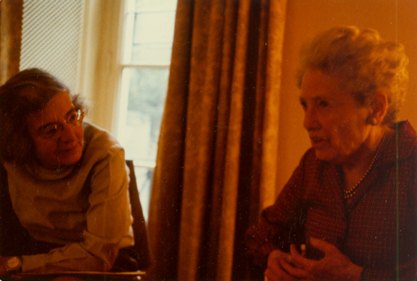 Jacqueline Van Voris and Mildred Adams Kenyon, January 1975