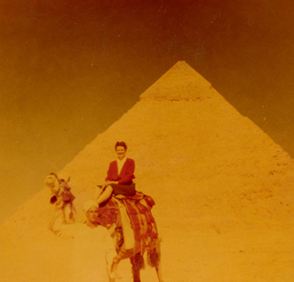 Frances Ticknor in Egypt, circa 1947