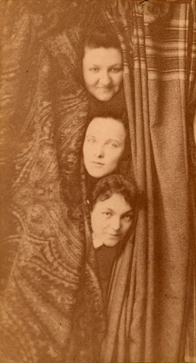 Mary Frances Winston (center) with Grace Chrisholm and Margaret Malloy, undated