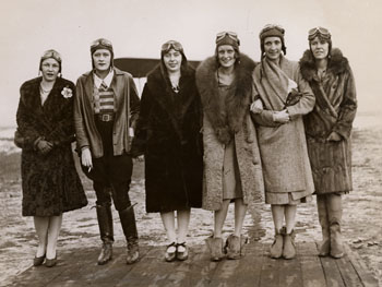 Six members of the Birdwoman Club, an organization for women pilots and students, undated