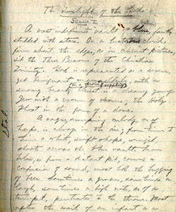"Manuscript for ""Twilight of the Gods,"" undated"