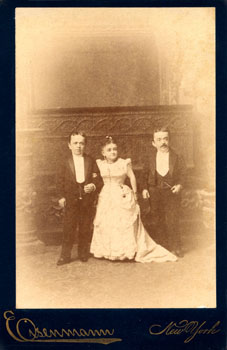 Tom Thumb, Mrs. Tom Thumb, and Tom Thumb's brother, undated