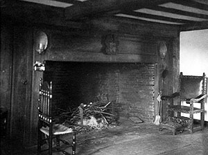 "The ""hall"" of Jessie Chase's home in West Newbury, Mass., setting of her story ""Seventy Plus"", undated"