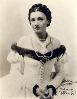 Publicity photo of Katherine Cornell in costume, undated