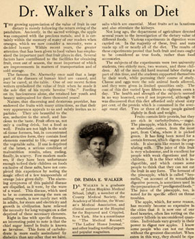 """Dr. Walker's Talks on Diet,"" from Success Magazine, June 1906"