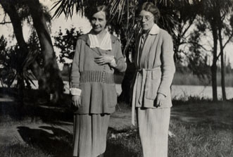 Bernice Tuller with Frances Drake in Argentina, 1921