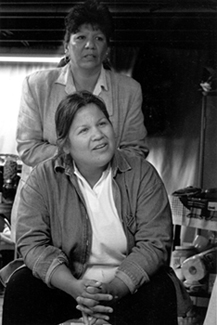 Katsi Cook at an Akwesasne Task Force on the Environment Vision Workshop, 2002