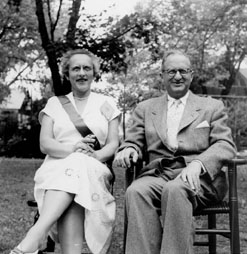 Katharine A. Engel and Irving M. Engel, probably at Smith College reunion, June 3, 1950