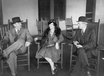 Sherwood Anderson, Julia Collier Harris, and J. LaRose Harris in Columbus, Ga., February 1929
