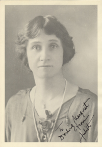 Juliet Rublee, autographed to Margaret Sanger 