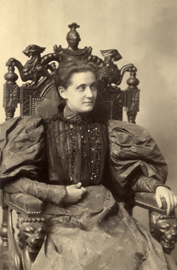 Jane Addams as a young woman, undated