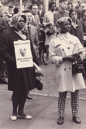 Rally in memory of Dr. Martin Luther King Jr.,  Central Park, New York City, April 5, 1968. © Diana Davies.