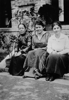 Madame Tso, Grace Coppock, and Ingeborg Wikenden, YWCA of China