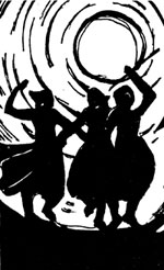 dancing women graphic