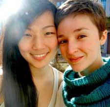Urban Ed fellows Dena Greenstreet '15 (on right) and Gloria Lee '15.
