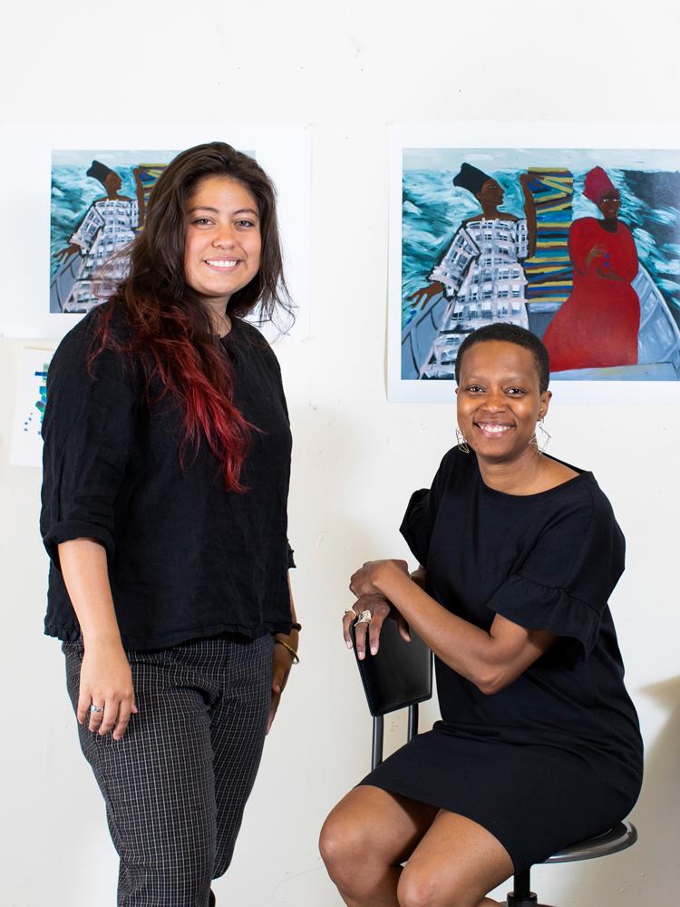 Amanda Williams and Isabel Cordova
