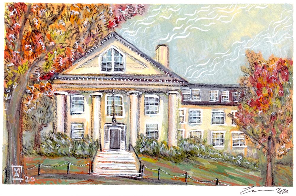 Capen House watercolor