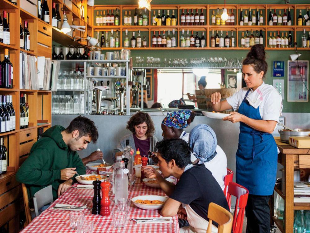 staff lunch in Erba Brusca