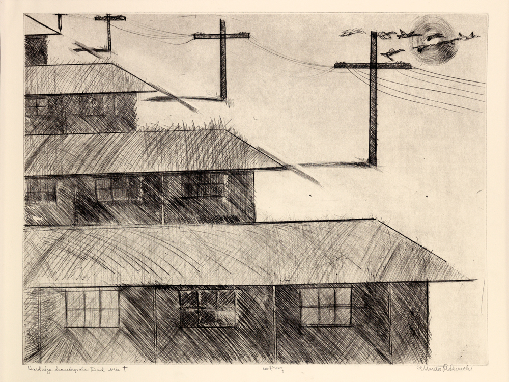 Makuuchi pen and ink of camps