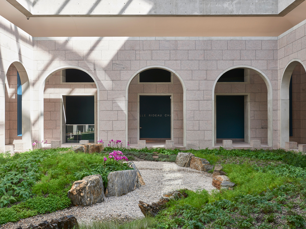 Interior courtyard of the National Gallery of Canada
